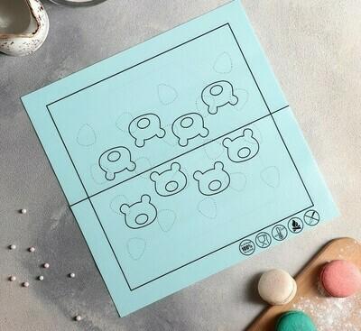 Коврик армированный для макаронс 27,5×27,5 см