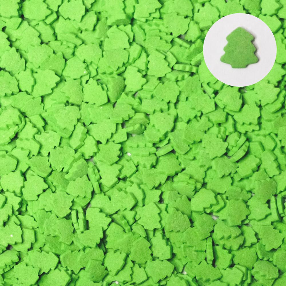 Посыпка Елки зеленые светлые 100 гр