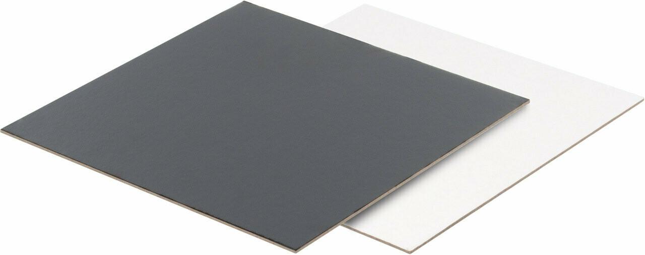 Подложка квадратная 30х30  двусторонняя 2.5мм черный/белый