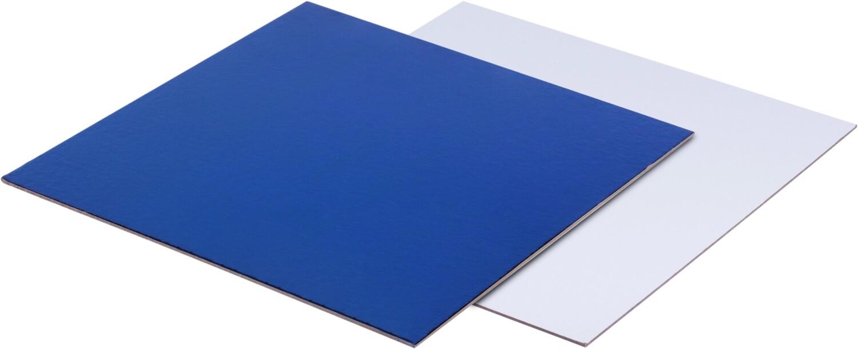 Подложка квадратная 30х30  двусторонняя 2.5мм синий/белый