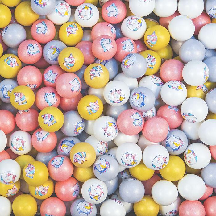 Жевательная резинка Единорог микс цветов. 10 шт. 50 гр.