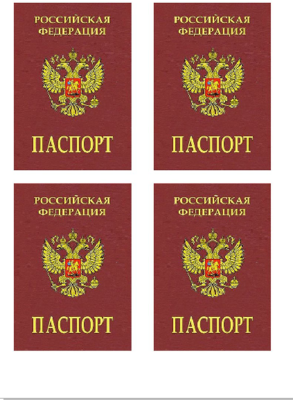 Печать на съедобной бумаге. 4 паспорта