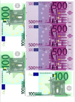 Печать на съедобной бумаге. Евро