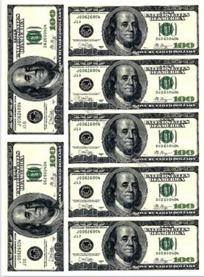 Печать на съедобной бумаге. Доллары