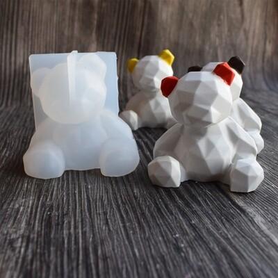 Молд 3Д медвежонок геометрия, размер 7х7см