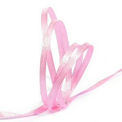 Лента атласная розовая 3 мм.