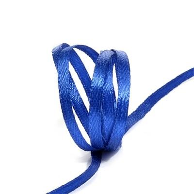 Лента атласная синяя 3 мм.