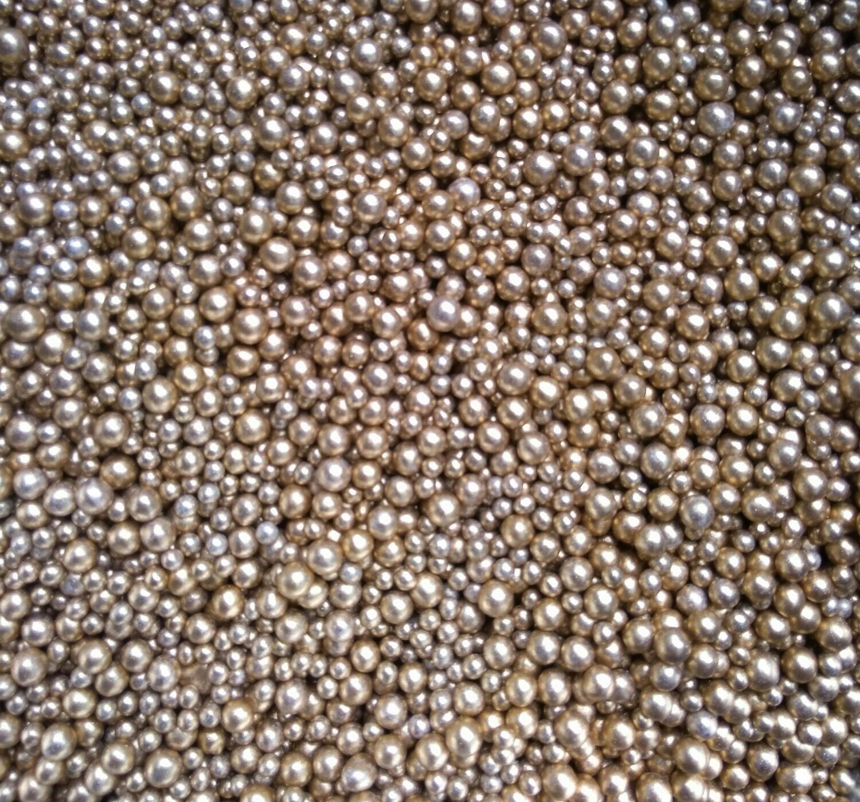 Шарики сахарные золото Россия. 3-5 мм 50 гр