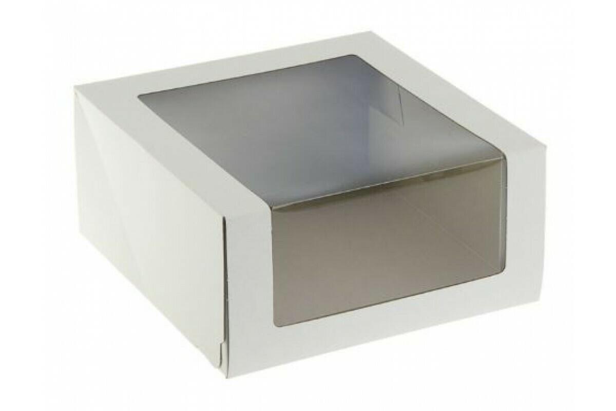 Упаковка белая с панорамным окном 18х18х7 см
