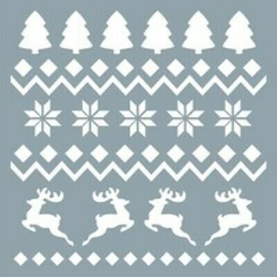 Трафарет для выпечки Рождественский узор 15х15см