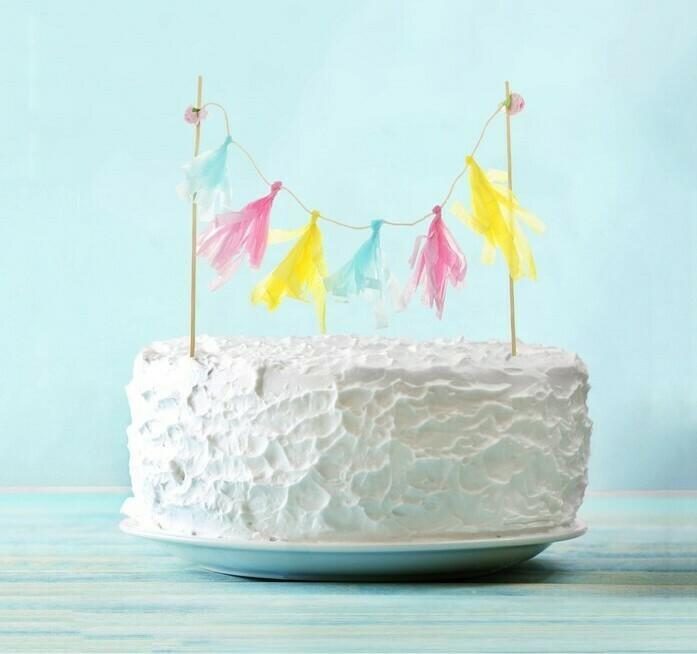 Украшения для торта тассел, цвета МИКС