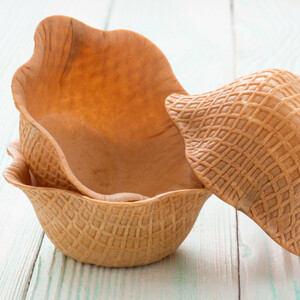 Вафельная креманка 8 шт (диам 12см, дно-6см)