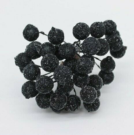 Тычинки двусторонние черные в сахаре 50 шт.