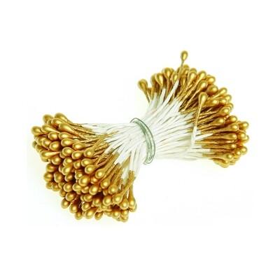 Тычинки двусторонние золотые 50 шт.