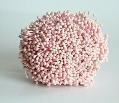 Тычинки двусторонние бледно-розовые 50 шт.