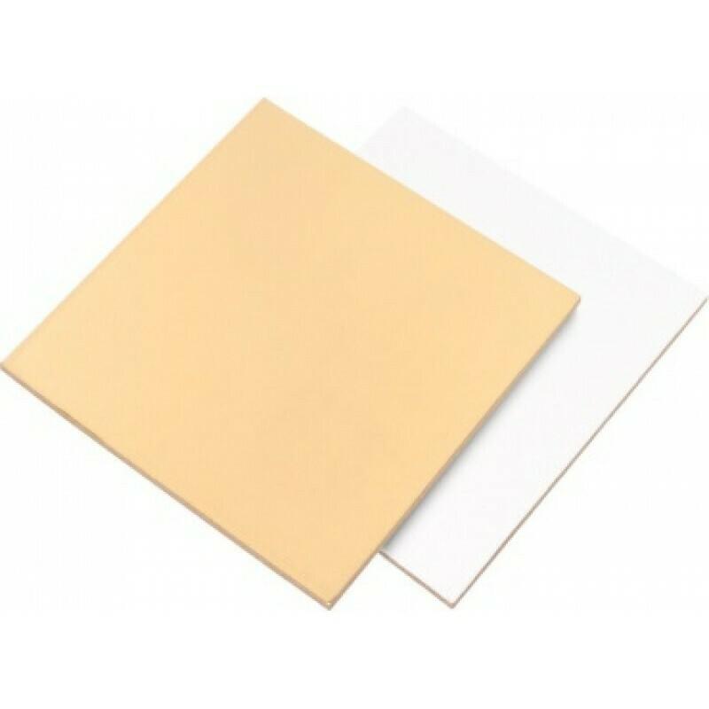 Подложка квадратная золото/жемчуг 1.5мм 22х22