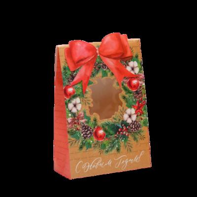 Коробка для новогоднего подарка «С Новым годом!», 15 × 7 × 22 см