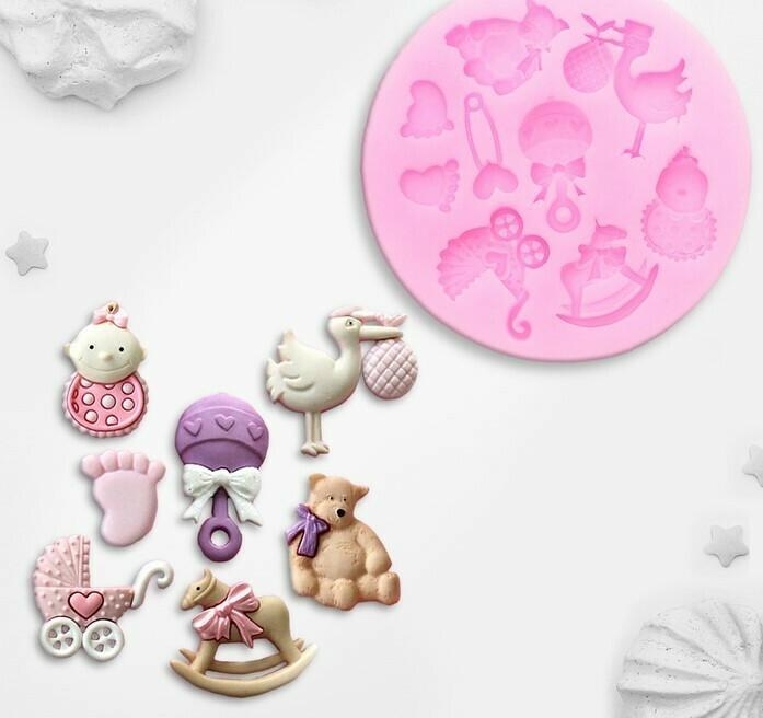 Молд силиконовый «Для новорождённого», 7,5×1 см