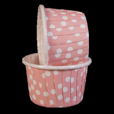 Капсула усиленная Нежно-розовая в белый горох 1 шт