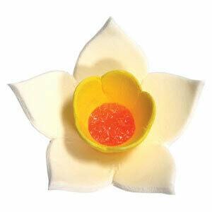 Сахарная фигурка Нарцисс белый 9 шт.