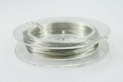 Мини-проволока 0,3 мм 10 м. серебряная в катушке