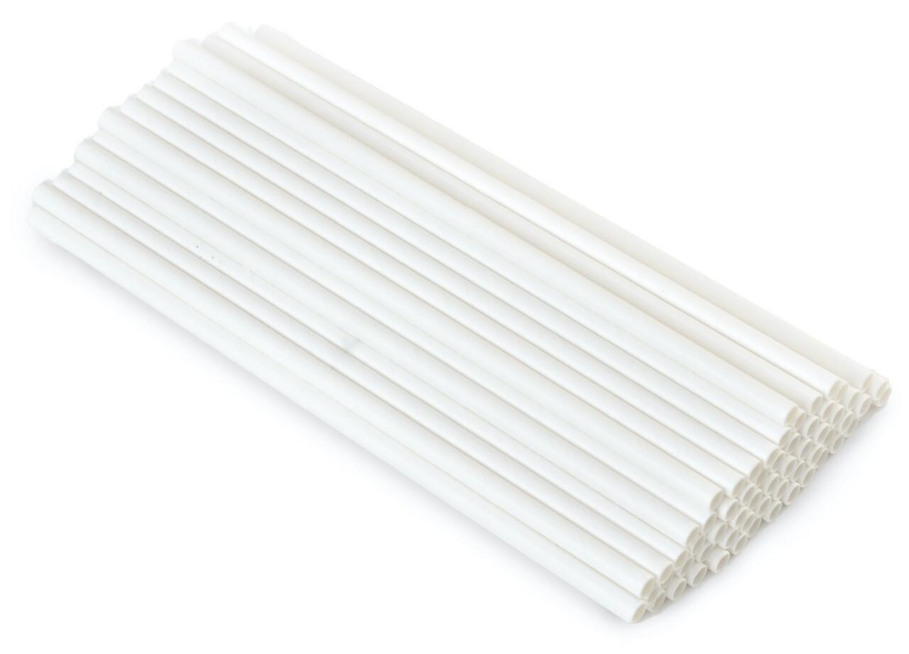 Трубочки бумажные Белые 19,5см 40 шт.