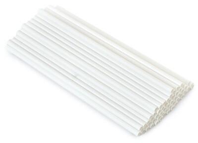 Трубочки бумажные Белые 19,5см 10 шт.
