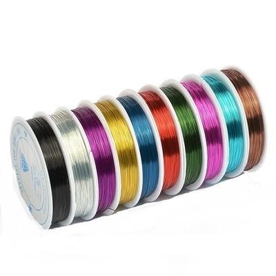 Набор цветной мини-проволоки 0,3 мм 10 м. в катушке  - 10 цветов