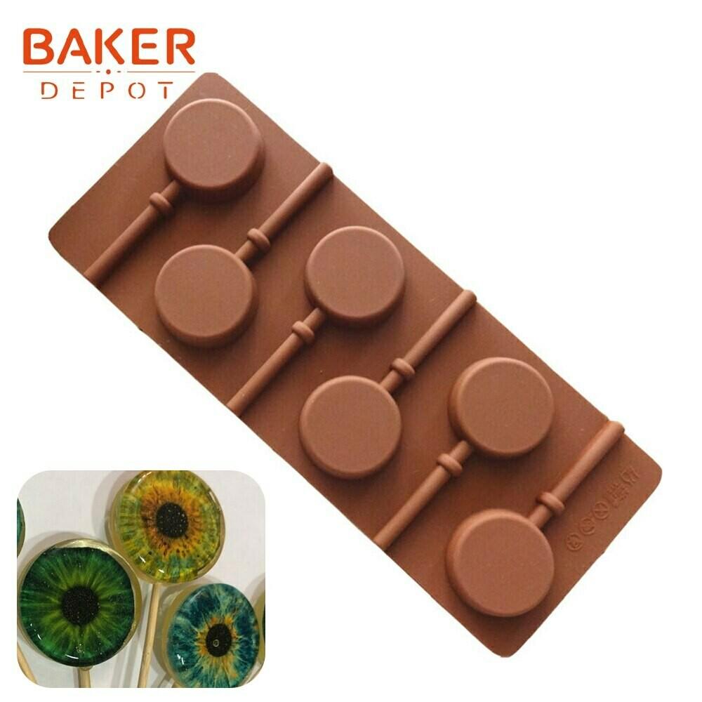 Форма для круглых леденцов коричневая диаметр 3.5 см.