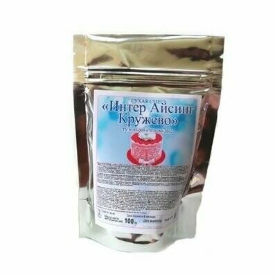 Интер Айсинг Кружево (сухая смесь) для изготовления гибкого кружева, 100 гр