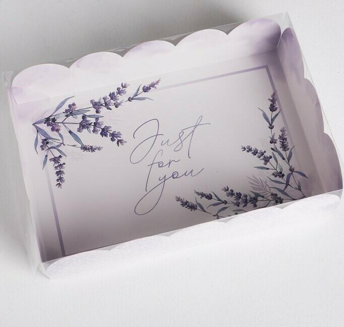 Коробка с пластиковой крышкой «Just for you», 20 × 30 × 8 см