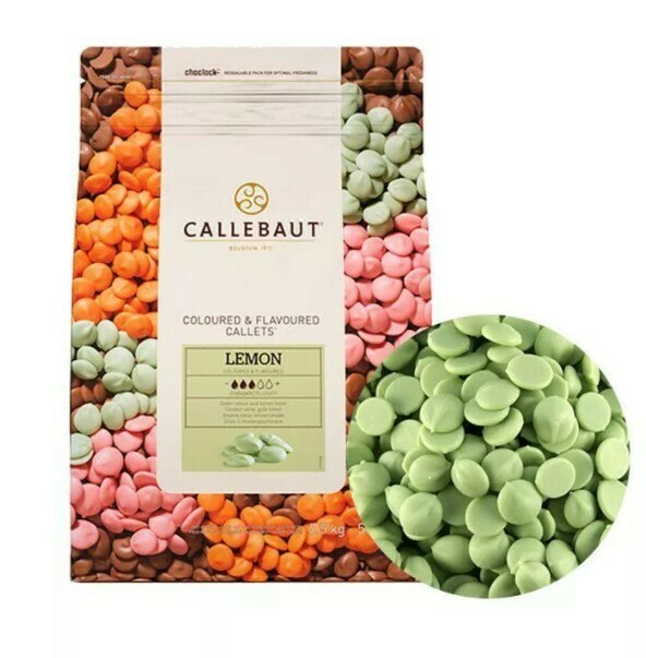 Шоколад Barry Callebaut зеленый со вкусом лимона. 200 гр