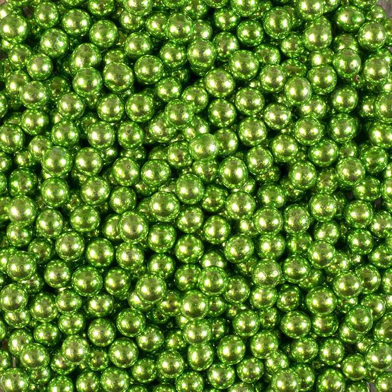 Посыпка шарики зеленый металлик 5 мм 50 гр.