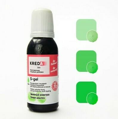 Краситель гелевый концентрат Зеленый электро 20 г Kreda-Bio