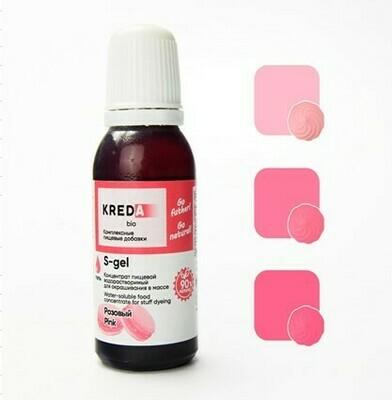 Краситель гелевый концентрат Розовый 20 г Kreda-Bio