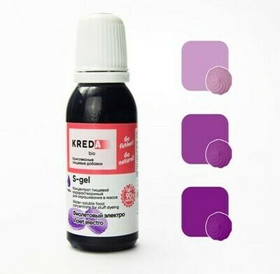 Краситель гелевый концентрат Фиолетовый Электро 20 г Kreda-Bio