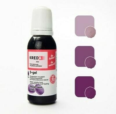 Краситель гелевый концентрат Фиолетовый 20 г Kreda-Bio