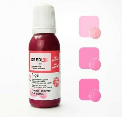 Краситель гелевый концентрат Розовый Электро 20 г Kreda-Bio