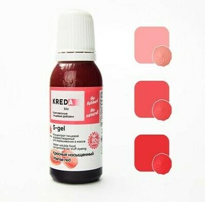 Краситель гелевый концентрат Красный Насыщенный 20 г Kreda-Bio