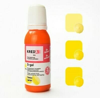 Краситель гелевый концентрат Лимон 20 г Kreda-Bio