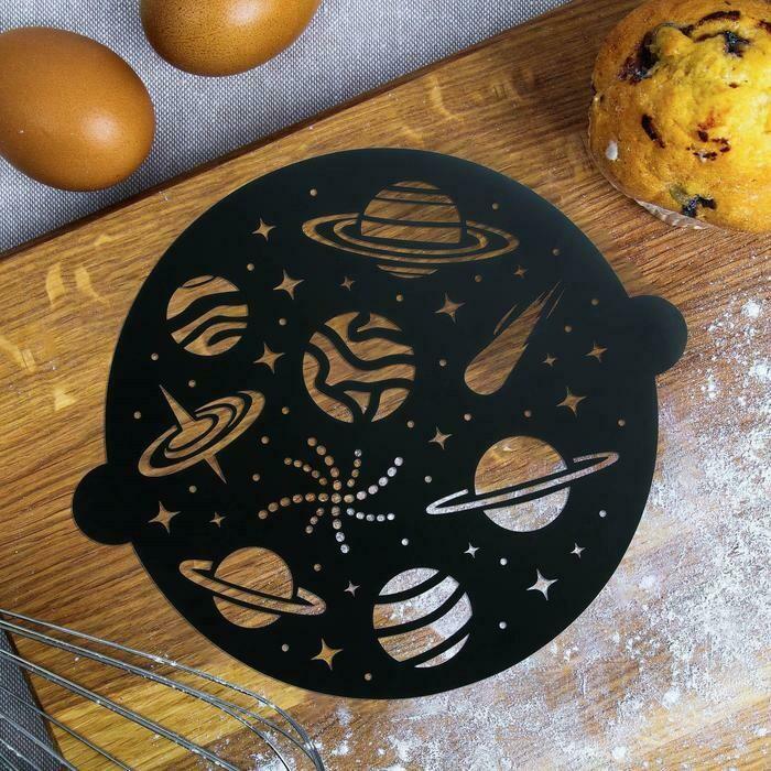 Трафарет для выпечки «Космос», 30 × 35 см