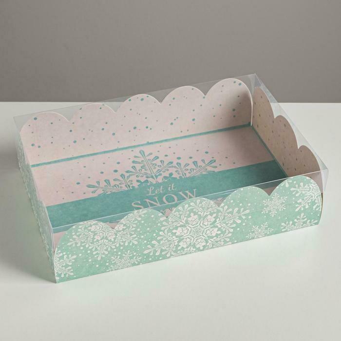 Коробка  с пластиковой крышкой Let it snow, 20 × 30 × 8 см
