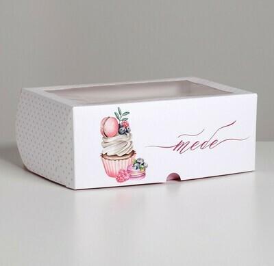 Коробка для 6 капкейков «Тебе» 17 х 25 х 10см