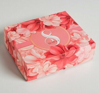 Коробочка для кондитерских изделий «8 марта», 17 × 20 × 6 см