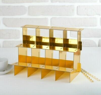 Подставка-ступенька для кексов, цвет золотой