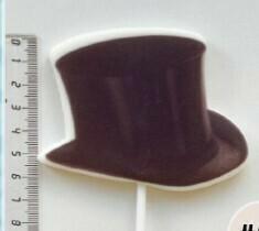 """Топпер сахарный """"Шляпа""""."""