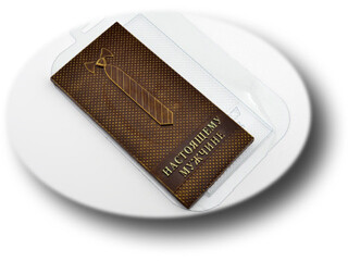Пластиковая форма для шоколада Плитка Мужчине Галстук