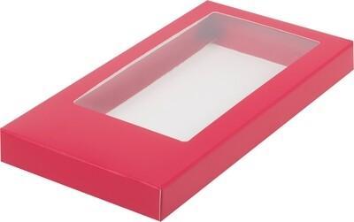 Коробка для плитки шоколада красная 18х9х1.7 см