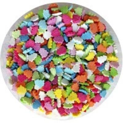 Посыпка сахарная Елочки микс разноцветные. 100 гр