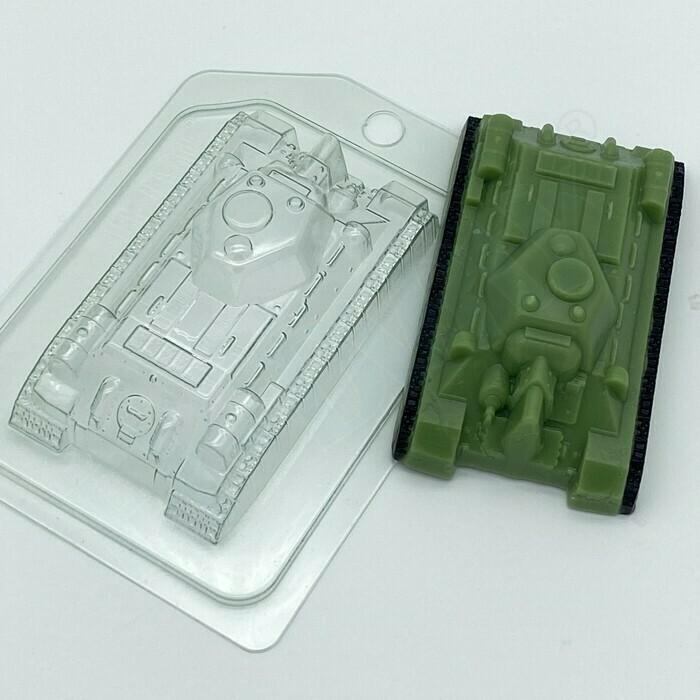 Пластиковая форма для шоколада Танк Т-34